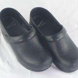 Dansko | Black Slide on Leather Clog - 37